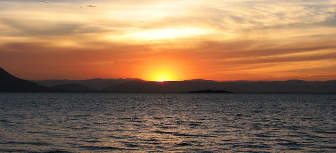 Obrázek západu Slunce